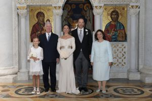 Their Royal Highnesses Crown Prince Alexander and Crown Princess Katherine with newlyweds