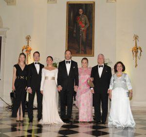 Their Royal Highnesses Princess Danica, Prince Philip, Princess Valerie, Prince Dushan, Princess Barbara, Crown Prince Alexander and Crown Princess Katherine
