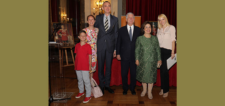 Their Royal Highnesses with the author Dusan Babac and family