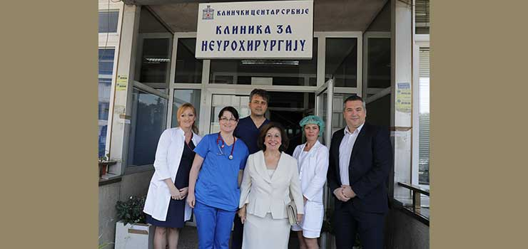 Princess Katherine Foundation and Mozzart company donation to the Belgrade Neurosurgery Clinic