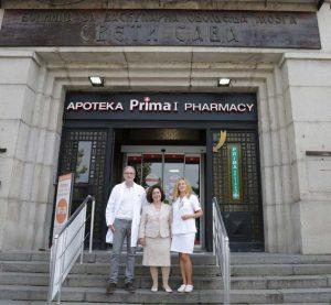From donation delivery to the Sveti Sava hospital with hospital director dr Milan Savić and head nurse Olivera Djurović