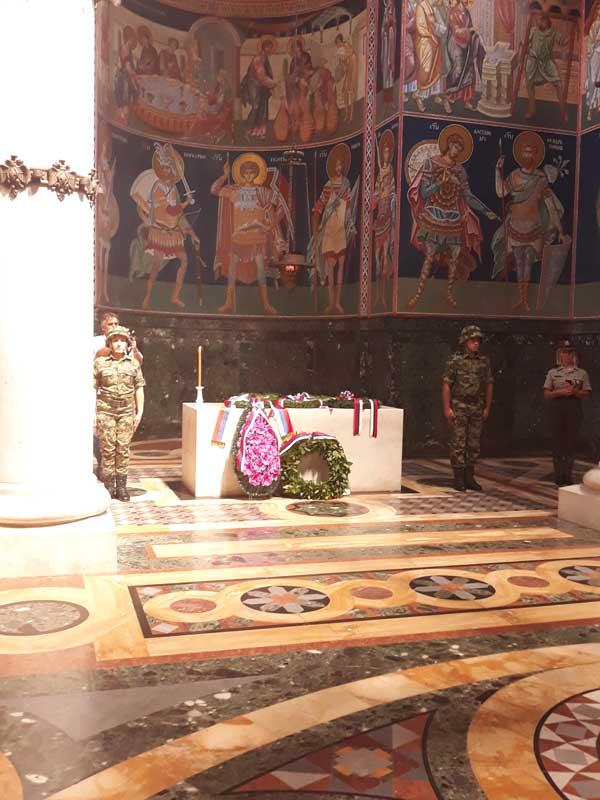 Полагање венаца поводом годишњице смрти Њ.В. Краља Петра I на Опленцу