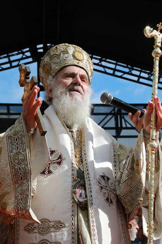 His Holiness the Serbian Patriarch Irinej