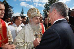 HRH Crown Prince Alexander and His Holiness the Serbian Patriarch Irinej