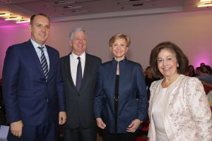 TRH Crown Price Alexander and Crown Princess Katherine with Minister of Health of Serbia, HE Dr Zlatibor Loncar and Prof. Dr. Hedvig Hricak.