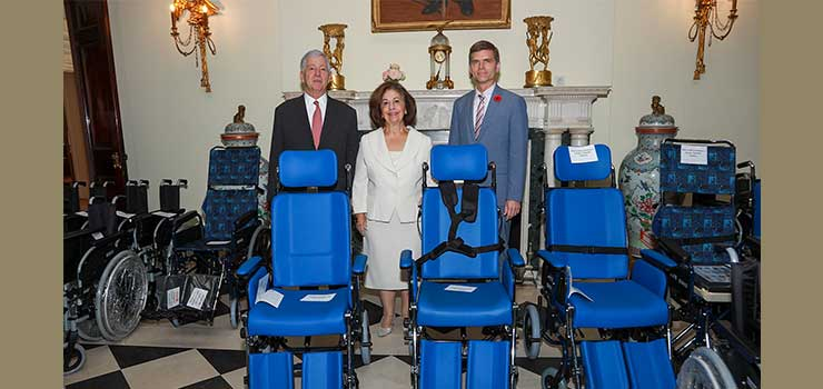 TRH Crown Prince Alexander, Crown Princess Katherine and Mr. Brian Ebel, Canadian Embassy counselor and Deputy mission chief